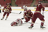 Sydney Daniels (Harvard - 25), Kaliya Johnson (BC - 6) - The visiting Boston College Eagles defeated the Harvard University Crimson 2-0 on Tuesday, January 19, 2016, at Bright-Landry Hockey Center in Boston, Massachusetts.