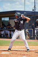 New York Yankees Anthony Seigler (11) at bat during a Florida Instructional League game against the Pittsburgh Pirates on September 25, 2018 at Yankee Complex in Tampa, Florida.  (Mike Janes/Four Seam Images)