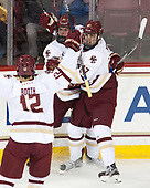 Mike Booth (BC - 12), Zach Walker (BC - 14), Graham McPhee (BC - 27) - The Boston College Eagles defeated the visiting Providence College Friars 3-1 on Friday, October 28, 2016, at Kelley Rink in Conte Forum in Chestnut Hill, Massachusetts.The Boston College Eagles defeated the visiting Providence College Friars 3-1 on Friday, October 28, 2016, at Kelley Rink in Conte Forum in Chestnut Hill, Massachusetts.