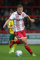 Alex Samuel of Stevenage in action during Stevenage vs Norwich City, Friendly Match Football at the Lamex Stadium on 11th July 2017