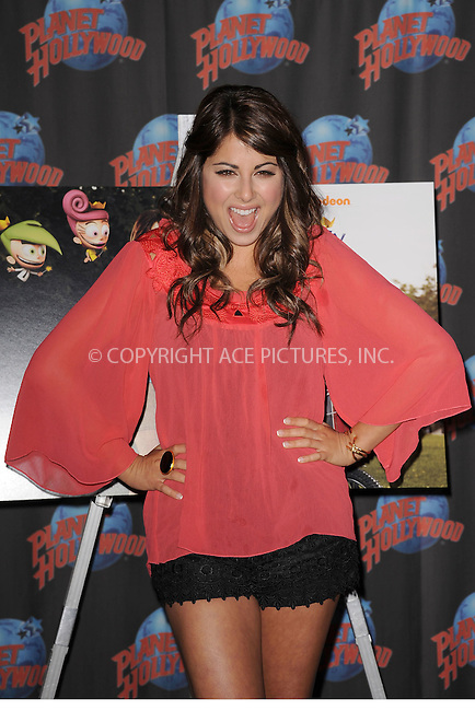"""WWW.ACEPIXS.COM . . . . . .June 29, 2011...New York City...Drake Bell and Daniella Monet Promote Their New Movie """"A Fairly Odd Movie: Grow Up, Timmy Turner!"""" At Planet Hollywood on June 29, 2011 in New York City....Please byline: KRISTIN CALLAHAN - ACEPIXS.COM.. . . . . . ..Ace Pictures, Inc: ..tel: (212) 243 8787 or (646) 769 0430..e-mail: info@acepixs.com..web: http://www.acepixs.com ."""