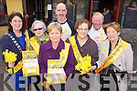 At the press launch of Daffodil day on Friday at Kirby's Brogue Inn were Mayor of Tralee Grace O'Donnell, Chris Griffin, Kathleen Curtin, Ed O'Connor, Maureen Roche, Michael 'Fox' O'Connor and Eleanor Collins.