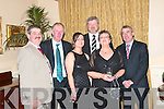 In good company at the Beale GAA Social in The Listowel Arms Hotel on Friday night were John Larkin, Liam Browne, Eoin Liston and Ogie Moran, (former Kerry footballers) Noreen Larkin and Joan Browne.   Copyright Kerry's Eye 2008