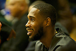 Portland Trail Blazers' Will Barton attended the Jefferson Democrats-Madison Senators game at Jefferson High School.<br /> Photo by Jaime Valdez
