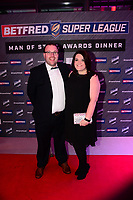 Picture by Simon Wilkinson/SWpix.com - 03/10/2017 - Rugby League BETFRED Super League Man of Steel Awards Dinner 2017 - The Steve Prescott MBE Man of Steel - Gary and Gemma Carter