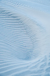 Beautiful patterns in the sand dunes change daily due to the blowing winds