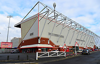 A general view of Alexandra Stadium, home of Crewe Alexandra FC<br /> <br /> Photographer Andrew Vaughan/CameraSport<br /> <br /> The EFL Sky Bet League Two - Crewe Alexandra v Lincoln City - Saturday 11th November 2017 - Alexandra Stadium - Crewe<br /> <br /> World Copyright &copy; 2017 CameraSport. All rights reserved. 43 Linden Ave. Countesthorpe. Leicester. England. LE8 5PG - Tel: +44 (0) 116 277 4147 - admin@camerasport.com - www.camerasport.com