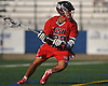 Ian Laviano #22 of Cold Spring Harbor carries behind the net during the Nassau County varsity boys lacrosse Class C final against Locust Valley at Hofstra University on Tuesday, May 31, 2016. Cold Spring Harbor won by a score of 17-9.