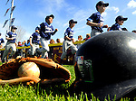 Little leaguers from from all ages got to march in front of family during South Windsor Little League opening day activities, Saturday, April 30, 2011, at the little league complex on Ayers Road in South Windsor. (Jim Michaud/Journal Inquirer)