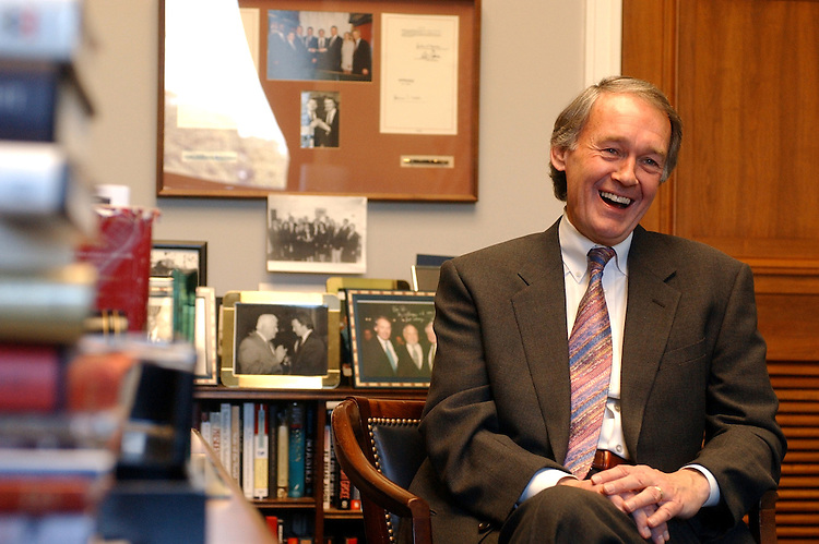 Rep. Edward Markey, D-Mass., is interviewed by Roll Call in his Rayburn office.