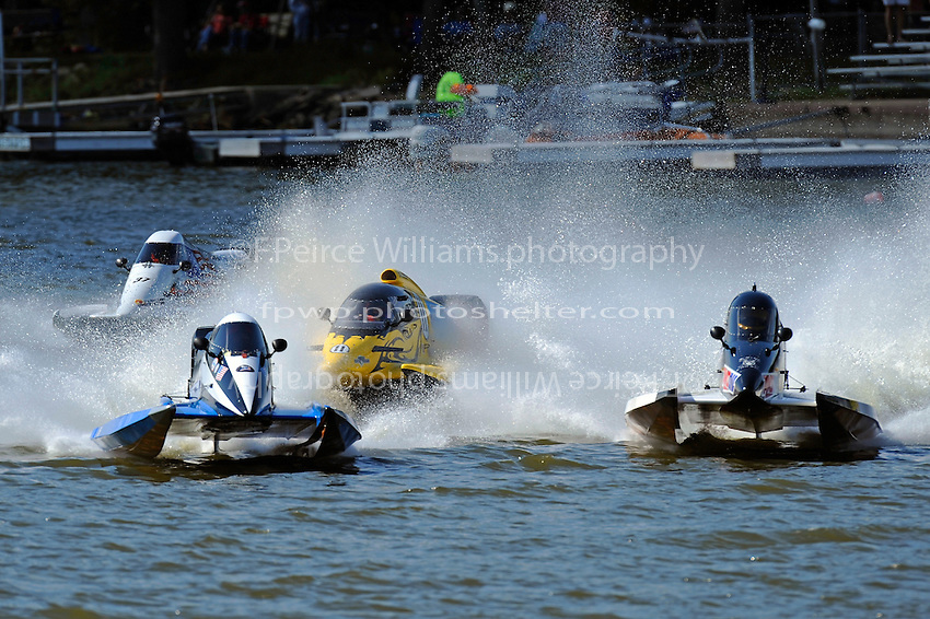 Start, Donny Lick, (#11) gets cut off by #99 as Stacy Funk, (#37) and Terry Rinker, (#10) race to the turn buoy. (SST-120 class)