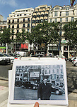 VMI Vincentian Heritage Tour: On the Avenue des Champs Élysées in Paris, outside the same theater where my dad was photographed by my grandfather more than 67 years ago (circa 1949). (DePaul University/Jamie Moncrief)