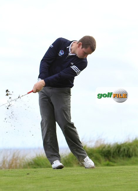 Robert MacIntyre during Round 1of the Alfred Dunhill Links Championship at Kingsbarns Golf Club on Thursday 26th September 2013.<br /> Picture:  Thos Caffrey / www.golffile.ie