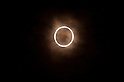The moon passes in front of the sun during an annular solar eclipse over the skies of Tokyo, Japan on Monday May 21st, 2012. This was the first time in 173 years that an annualar solar eclipse was visible from Tokyo.