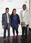 Kwame Kyei & friends at Color of Beauty Awards hosted by VH1's Gossip Table's Delaina Dixon and Maureen Tokeson-Martin on February 28, 2015 with red carpet, awards and cocktail reception at Ana Tzarev Gallery, New York City, New York.  (Photo by Sue Coflin/Max Photos)