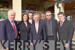 OWEN TO FINISH CAP...MEETING: Tralee business people meeting with Fine Gael Deputy Leader, Richard Bruton last Friday, l-r: Jimmy Deenihan TD, Cllr Grace O'Donnell, Ken Tobin, Richard Bruton TD, Mike O'Donnell, Kieran Ruttledge, Anthony O'Gara.