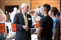 Incoming first-years are welcomed and meet the faculty during Occidental College Orientation on Aug. 22, 2014.<br /> (Photo by Marc Campos, Occidental College Photographer)