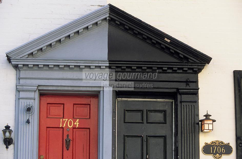 Amérique/Amérique du Nord/USA/Etats-Unis/Vallée du Delaware/Pennsylvanie/Philadelphie : Portes des maisons sur Manning Street