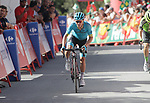 Miguel Angel Lopez (COL) Astana Pro Team crosses the finish line at the end of Stage 4 of the La Vuelta 2018, running 162km from Velez-Malaga to Alfacar, Sierra de la Alfaguara, Andalucia, Spain. 28th August 2018.<br /> Picture: Colin Flockton | Cyclefile<br /> <br /> <br /> All photos usage must carry mandatory copyright credit (&copy; Cyclefile | Colin Flockton)