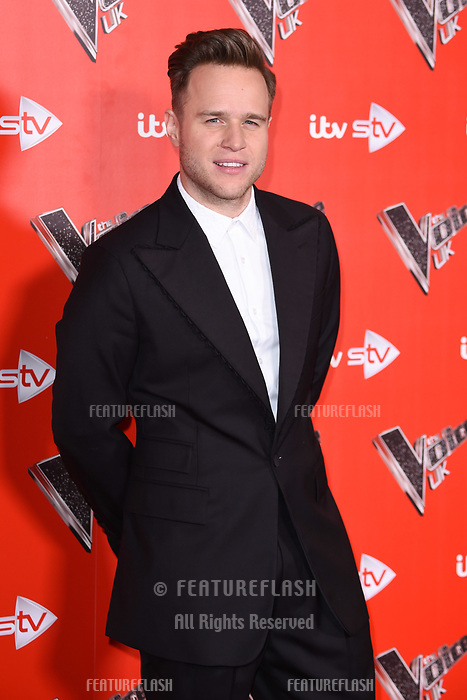 Ollie Murs at the photocall for The Voice UK 2018 launch at Ham Yard Hotel, London, UK. <br /> 03 January  2018<br /> Picture: Steve Vas/Featureflash/SilverHub 0208 004 5359 sales@silverhubmedia.com