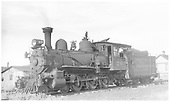 3/4 left-side view of RGS 4-6-0 #20 at Mancos.<br /> RGS  Mancos, CO  Taken by Perry, Otto C. - 9/6/1941