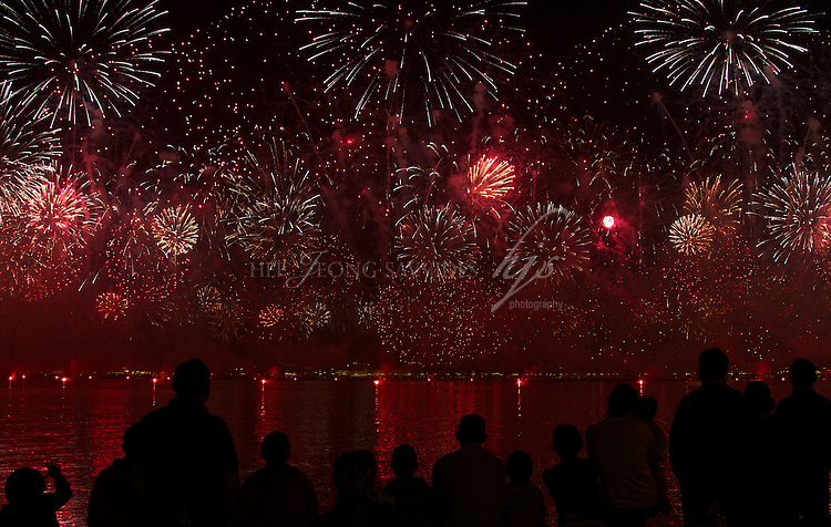 Fireworks on National Day, Doha, Qatar | Dec 10