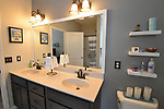 The master bathroom. Sheridan and Rikki Glen are At Home in their Tanglewood subdivision home in Caseyville, IL on Wednesday January 16, 2019. <br /> Photo by Tim Vizer