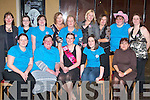 HEN NIGHT: Ciara Daly, Ardfert (seated centre), who held her hen night at Il Pomo Doro Restaurant, Tralee, on Saturday night with family and friends: Seated front l-r: Sharina O'Sullivan, Margaret Daly, Ciara Daly, Niamh Daly and Kay O'Sullivan. Back: Sharon Looney, Catherine O'Connell, Caroline Daly, Anne Marie Rogers, Clodagh Brosnan, Bernie Boyle, Liz Brosnan, Siobha?n Lynch and Edel Fitzgerald.   Copyright Kerry's Eye 2008