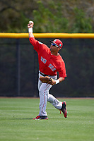 Boston Red Sox Tyler Hill (46) during practice before a minor league Spring Training game against the Tampa Bay Rays on March 23, 2016 at Charlotte Sports Park in Port Charlotte, Florida.  (Mike Janes/Four Seam Images)