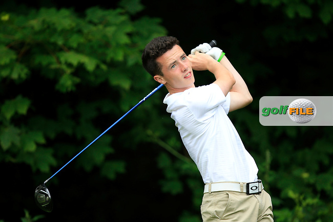 Rory Williamson (Holywood) on the 9th tee during Round 3 of the Ulster Boys' Amateur Open Championship in Clandeboye Golf Club on Thursday 10th July 2014.<br /> Picture:  Thos Caffrey / www.golffile.ie