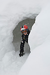 boy plays in snow cave, one of many outdoor winter activities at Copper Mountain Ski Resort, Copper Mountain, Colorado, USA, (MR), model released, #94
