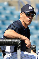 Feb 23, 2010; Tampa, FL, USA; New York Yankees  manager Joe Girardi (28) during  team workout at George M. Steinbrenner Field. Mandatory Credit: Tomasso De Rosa