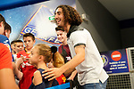 Getafe CF's new player Marc Cucurella withnthe supporters during his official presentation. July 19, 2019. (ALTERPHOTOS/Acero)