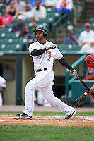 Rochester Red Wings outfielder Wilkin Ramirez (7) at bat during a game against the Pawtucket Red Sox on July 1, 2015 at Frontier Field in Rochester, New York.  Rochester defeated Pawtucket 8-4.  (Mike Janes/Four Seam Images)