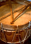 Drum used by Native America's in the mission band at Mission San Antonio De Padua, the third mission, founded on July 14, 1771 near Fort Hunter-Leggitt, California