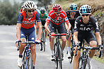 Mikel Nieve (ESP), race leader Chris Froome (GBR) and Wout Poels (NED) Team Sky on the brutal climb of Los Machucos during Stage 17 of the 2017 La Vuelta, running 180.5km from Villadiego to Los Machucos. Monumento Vaca Pasiega, Spain. 6th September 2017.<br /> Picture: Unipublic/&copy;photogomezsport   Cyclefile<br /> <br /> <br /> All photos usage must carry mandatory copyright credit (&copy; Cyclefile   Unipublic/&copy;photogomezsport)