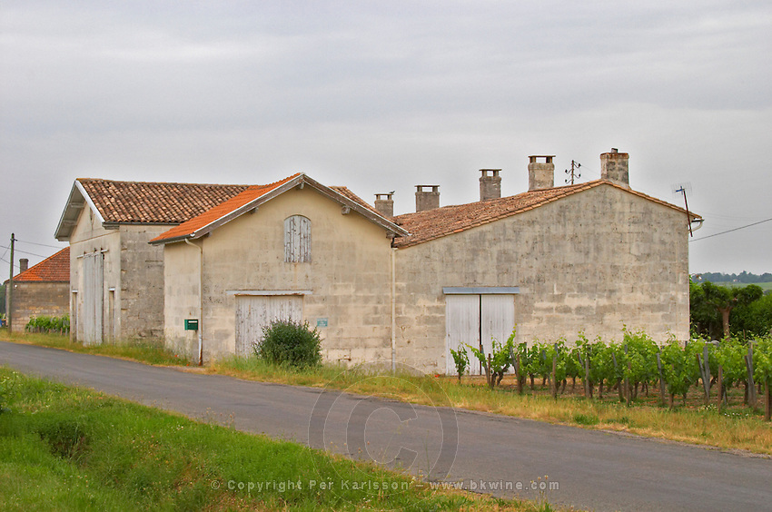 The rather unassuming modest Chateau Le Bon Pasteur and vineyard, owned by famous oenologist Michel Rolland  Pomerol  Bordeaux Gironde Aquitaine France