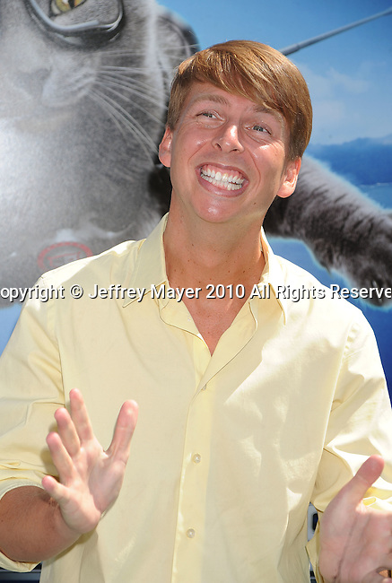 "HOLLYWOOD, CA. - July 25: Jack McBrayer arrives at Los Angeles premiere of ""Cats & Dogs: The Revenge Of Kitty Galore"" on July 25, 2010 in Hollywood, california."