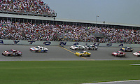 Mark Martin (6) leads Alan Kulwicky (7), Michael Waltrip (30), Ken Schrader (25), Terry Labonte (1), Jimmy Spencer (57) and Sterling Marlin (94) during the Pepsi 400 at Daytona International Speedway, Daytona Beach, FL, July 7, 1990 (Photo by Brian Cleary/www.bcpix.com)