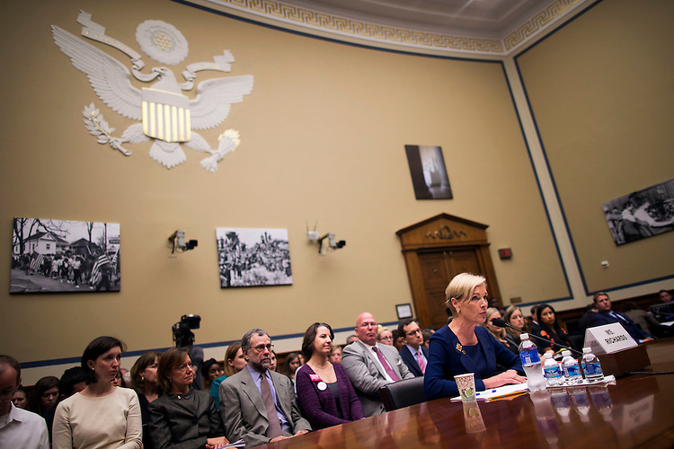 """UNITED STATES - September 29: Cecile Richards, President of Planned Parenthood Federation of America, answers questions after testifying to the House Oversight and Government Reform Committee hearing on """"Planned Parenthood's Taxpayer Funding,"""" in Capitol Hill in Washington, Tuesday, Sept. 29, 2015. (Photo By Al Drago/CQ Roll Call)"""