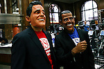 "Romney and Obama take part during the ""Run up to the Election"" in NYC"
