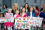 At the Rose Parade on Sunday were Alisha Coffey, Lucy Moriarty, Megan Moriarty, Caoimhe Coffey,  Eimear Donovan and Patricia Coffey supporting the London Rose