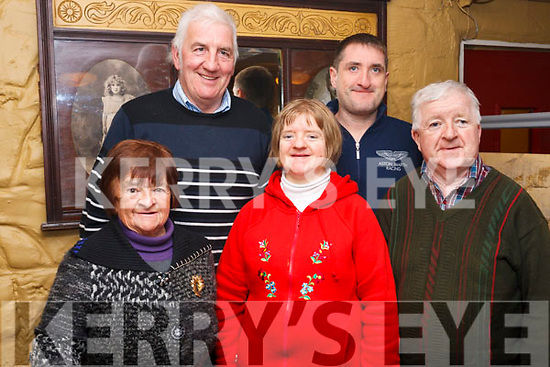 The Mahony and Griffin familys enjoying a pre Xmas celebration in the Brogue Inn on Thursday last. At the back are Patrick Griffin and Enda Mahony. Front are Noreen Griffin with Grace and Pat Mahony.