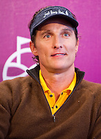 HAIKOU, CHINA - OCTOBER 28:  Hollywood actor Matthew McConaughey attends a press conference during the Mission Hills Star Trophy on October 28, 2010 in Haikou, China. The Mission Hills Star Trophy is Asia's leading leisure liflestyle event and features Hollywood celebrities and international golf stars.  Photo by Victor Fraile / studioEAST