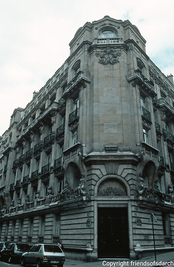 J. Boussard: Apartment Building at No. 4 Rue Jasmin.   Photo '90.