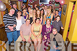 Amanda O'Shea, Woodlawn, Killarney, pictured with her parents Mike and Alice, family and friends as she celebrated her 21st birthday in Corkerys Bar, Killarney on Friday night.