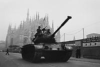 - Milan, military parade in Duomo square for 3dt Army Corps centennial  (November 1984)<br /> <br /> -  Milano, parata militare in piazza del Duomo per il centenario del 3° Corpo d'Armata (novembre 1984)....