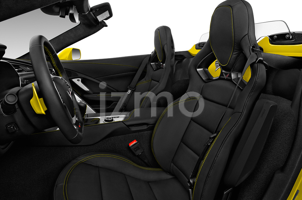 Front seat view of 2018 Chevrolet Corvette Z06-3LZ 2 Door Convertible Front Seat  car photos