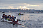 Rowing, Head of the Lake Regatta, November 2 2014, Seattle, Gonzaga University crew,  men's JV 8+, Washington State, Lake Washington Rowing Club, Lake Washington Ship Canal,