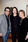"""LOS ANGELES - JAN 9: Ben Mankiewicz, Sherry Lansing, Kate Johnson at The Actors Fund's """"In The Spotlight"""" Living Room Salon Series launch with special guest Sherry Lansing at a private estate on January 9, 2018 in Beverly Hills, CA"""